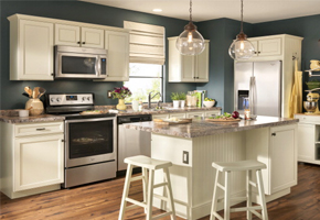 Kitchen Scene With Cabinets