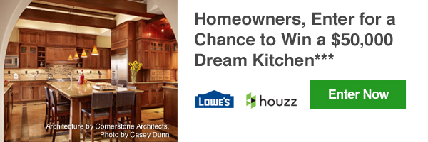 Homeowners, Enter for a Chance to Win a $50,000 Dream Kitchen***