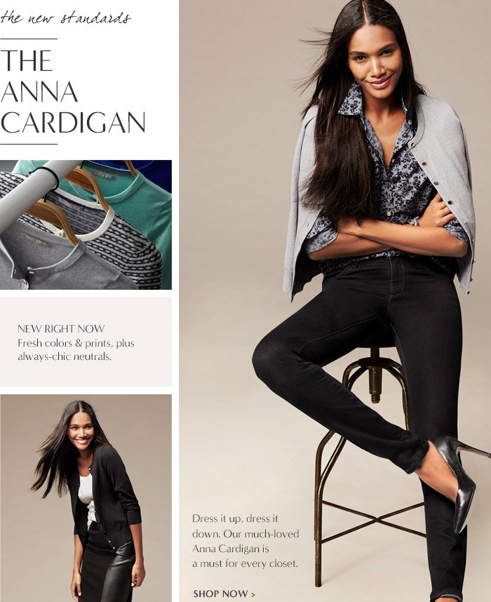 the new standards   THE ANNA CARDIGAN   SHOP NOW
