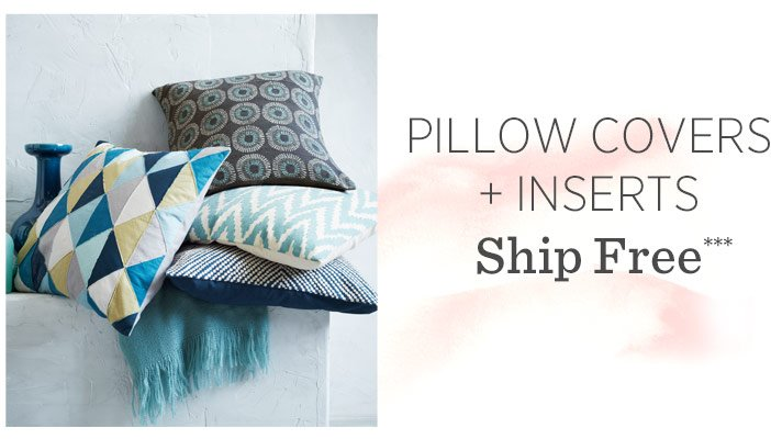 Pillow Covers + Inserts Ship Free***