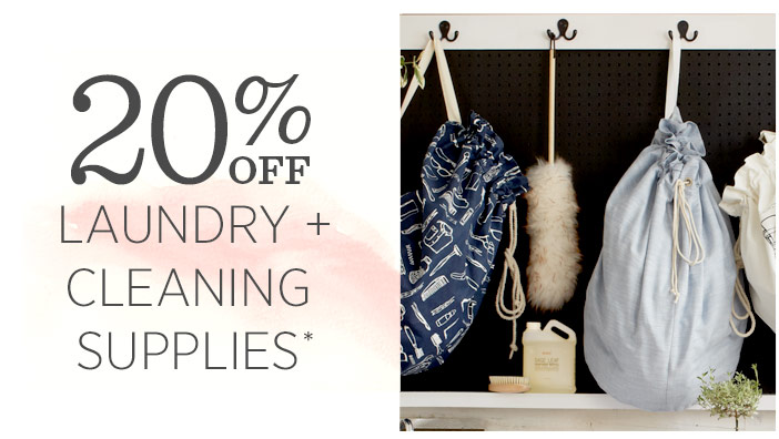 20% Off Laundry + Cleaning Supplies*