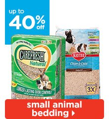Up to 40% off Small Animal Bedding