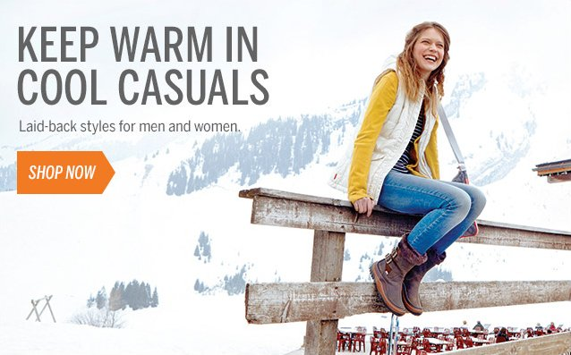 KEEP WARM IN COOL CASUALS