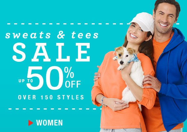 Get  up to 50% off 150+  Sweats & Tees For Her