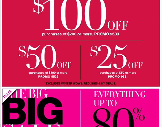 Save Up to $100 with Coupon + The Big Sale Continues!