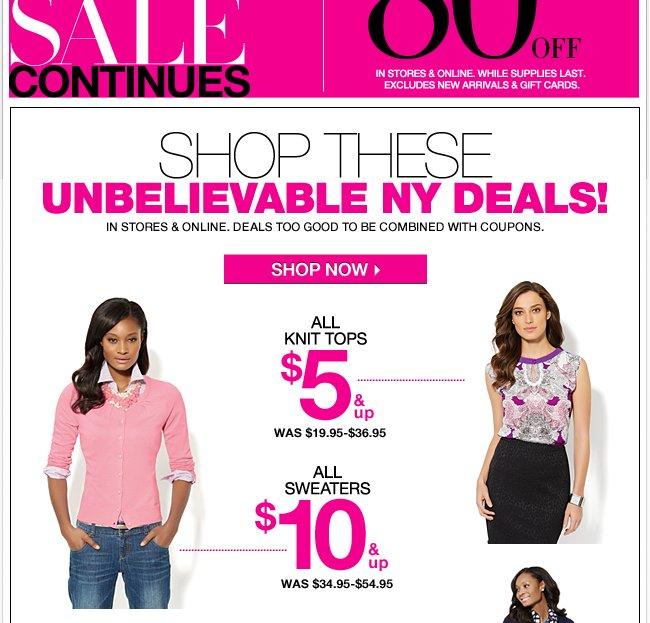 Plus, Unbelievable NY Deals!