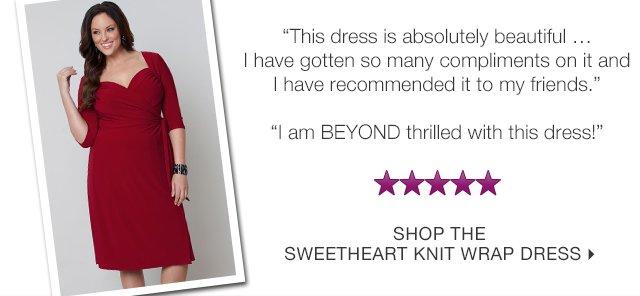 Shop the Sweetheart Knit Wrap Dress