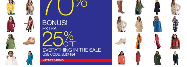 Extra 25% Off Everything in the Sale
