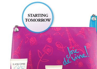 STARTING TOMORROW | Joie de vivre!