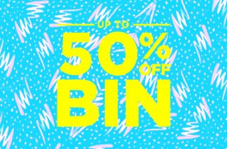 Up to 50% off Bin
