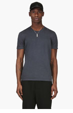 MAISON MARTIN MARGIELA Slate Blue Classic Crewneck T-Shirt for men
