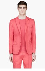 CALVIN KLEIN COLLECTION Coral Red Blazer for men