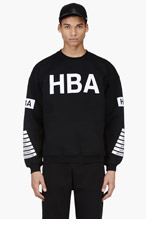 HOOD BY AIR Black Target Pattern Sweatshirt for men