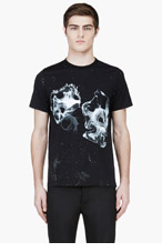 KRISVANASSCHE Black Graphic T-Shirt for men