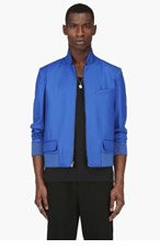 MAISON MARTIN MARGIELA Blue Wool Reversible Jacket for men