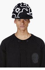 KTZ Black oversize tattoo toweling oversize cap for men