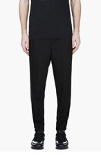PUBLIC SCHOOL Black Tuxedo Stripe Lounge Pants for men