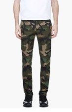 VALENTINO Green Camo Trousers for men