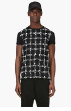 VERSUS Black Pin Patterned J.W. Anderson Edition T-Shirt for men