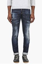 DSQUARED2 Blue Paint Splatter Jeans for men