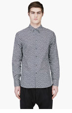 MARNI Black & White Patterned Shirt for men