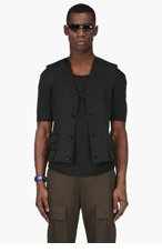 MAISON MARTIN MARGIELA Black Raw Edge Vest for men
