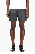 DSQUARED2 Slate Blue Leather Shorts for men