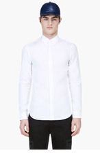CALVIN KLEIN COLLECTION White MAGNETIC BUTTON DOWN for men