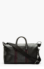 PAUL SMITH Black Leather Accent Trim Duffle Bag for men