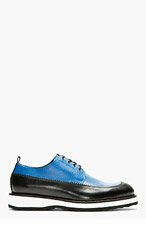 PIERRE HARDY Blue & Black Leather Derbys for men