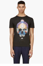 PAUL SMITH JEANS Black Skull Graphic T-Shirt for men