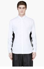PUBLIC SCHOOL White Contrast Panel Shirt for men
