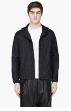 LANVIN Black Hooded Jacket for men