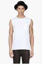 ACNE STUDIOS White Layered Pocket Kansas Tank Top for men