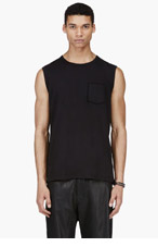 ACNE STUDIOS Black Layered Pocket Kansas Tank Top for men