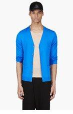 ACNE STUDIOS Blue Light Wool V-Neck Cardigan for men