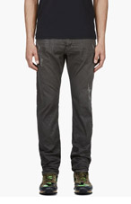 DIESEL Grey Metallic Braddom Trousers for men