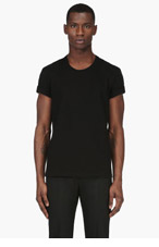 MAISON MARTIN MARGIELA Black Enclosed Chain T-Shirt for men