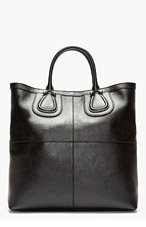 GIVENCHY Black leather nightingale viking tote for men