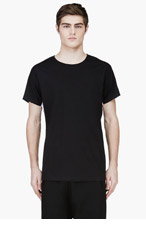 PUBLIC SCHOOL Black Contrast Panel T-Shirt for men