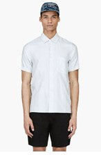 MARC JACOBS Pale Seafoam Woven Stripe Shirt for men