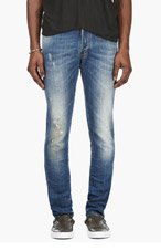 DSQUARED2 Blue Distressed Slim Jeans for men