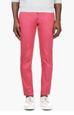 DSQUARED2 Coral Pink Slim Trousers for men