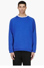 ACNE STUDIOS Blue Oversized Crewneck Sweater for men