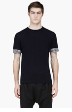 MARNI Navy Contrast Cuff Cashmere Sweater for men
