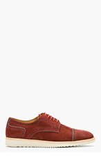 PS PAUL SMITH Burgundy Suede McRoy Brogues for men