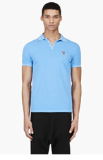DSQUARED2 Light Blue Cotton Piqu� Polo for men