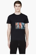 KRISVANASSCHE Black Sky Print T-Shirt for men