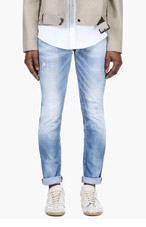 DSQUARED2 Light Blue Distressed Jeans for men