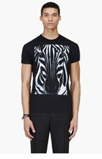 DSQUARED2 Black Zebra Graphic T-Shirt for men
